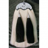 White Original Horse Hair Military Long Sporran