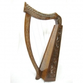 Rosewood Celtic Harp 19 Strings